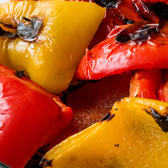 Grilled peppers in sunflower Oil